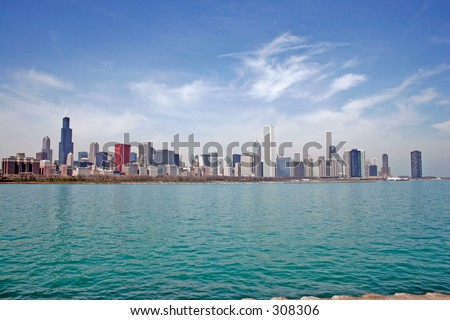 Chicago in color - stock photo