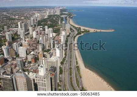 Chicago Lake shore - stock photo