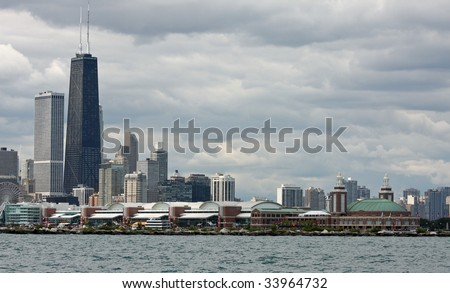 Chicago's skyline and Navy Pier