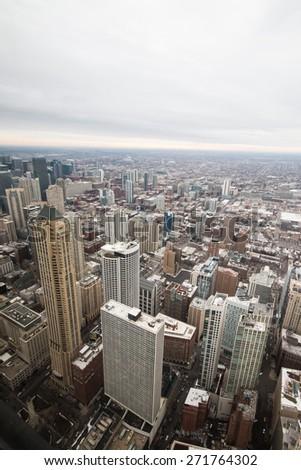 Chicago skyline, Illinois, US - stock photo