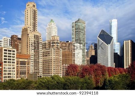 Chicago skyscrapers - stock photo