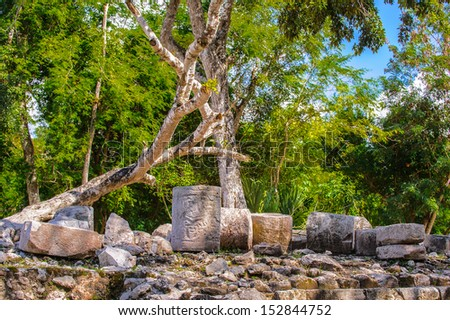 Chichen Itza, a large pre-Columbian city built by the Maya civilization. Mexico - stock photo