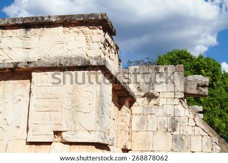 chichen Itza archaeological site maya yucatan peninsula of mexico unesco heritage - stock photo