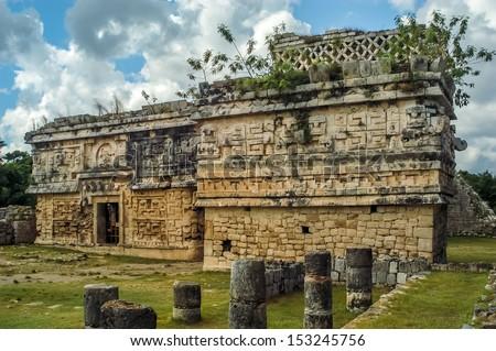 Chichen Itza - Iglesia Las Monjas - stock photo