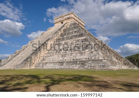Chichen Itza Mayan Ruin in Mexico - stock photo