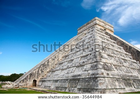 Chichen Itza, Mexico, one of the New Seven Wonders of the World - stock photo
