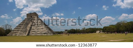 Chichen Itza pyramid, Yucatan, Mexico - stock photo
