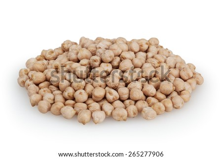 Chick beans isolated on white background with clipping path - stock photo