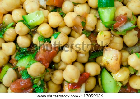 chick peas with greens