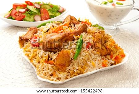 Chicken Biryani-9 - stock photo