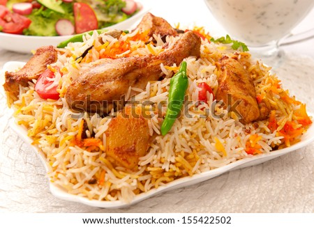 Chicken Biryani-5 - stock photo