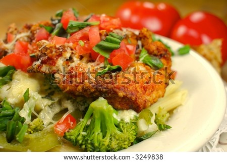 Chicken Broccoli Penne Pasta Dinner - stock photo