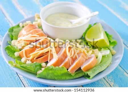 Chicken Caesar Salad - stock photo