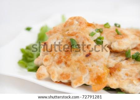 Chicken cutlet - stock photo