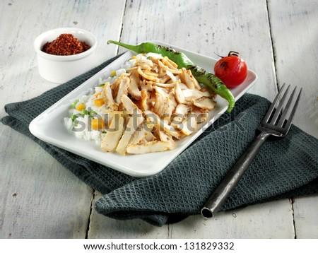 chicken doner - stock photo