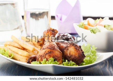 Chicken Drumsticks. Selective focus