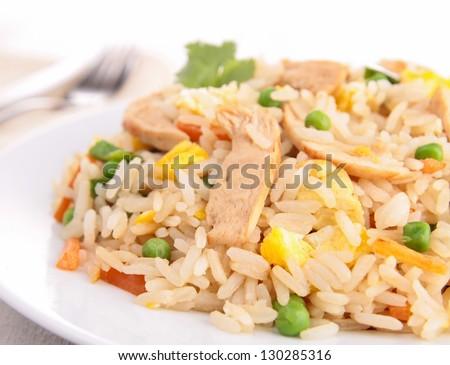 chicken fried rice - stock photo