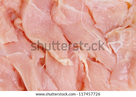 chicken  meat  sliced   as food  background - stock photo