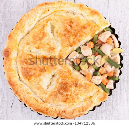 chicken pot pie - stock photo