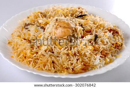 Chicken Pulao - stock photo
