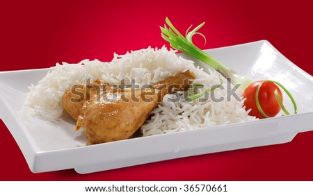 Chicken & Rice - stock photo