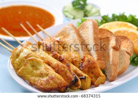 Chicken Satay - stock photo