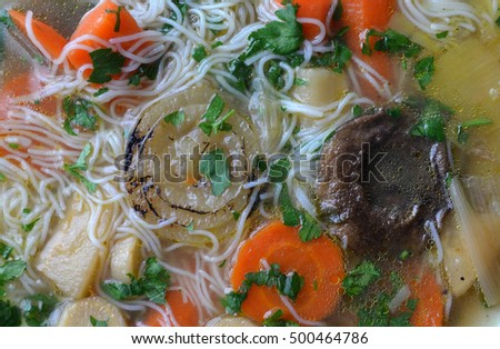 chicken soup noodle