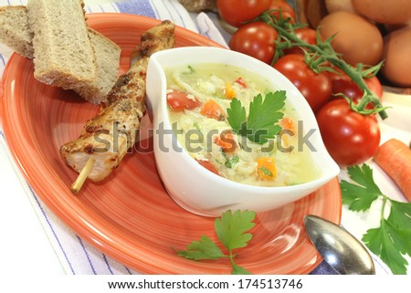 chicken soup with eggs