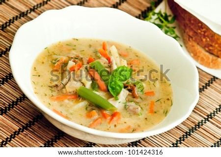 Chicken stew - stock photo