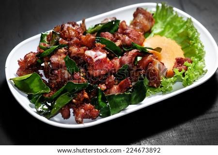 Chicken Stir Fried - stock photo