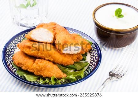 Chicken strips  - stock photo