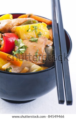 Chicken sweet sour  with vegetable