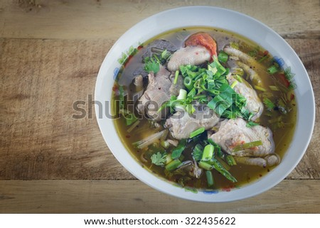 Chicken tom yum as Thai delicious food