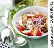 Chicken & Tomato Salad - stock photo