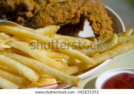 chicken wing fast food on dish