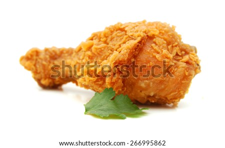 Chicken wing isolated on white background  - stock photo