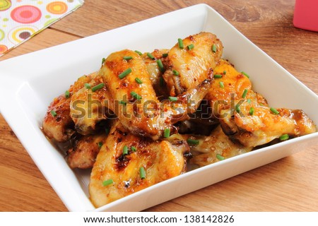 Chicken wings - stock photo