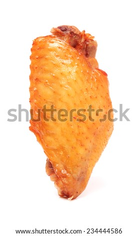 chicken wings on white background - stock photo