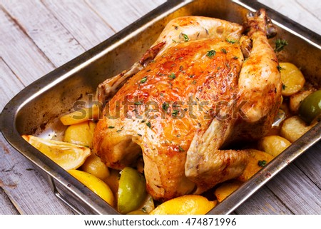 Chicken with Lemon, Lime, Potato and Thyme