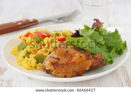 chicken with rice with vegetables
