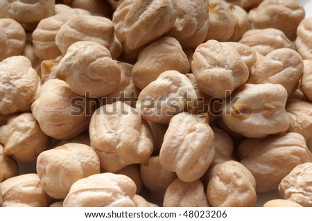 chickpea close up - stock photo