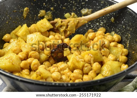 Chickpea curry - stock photo