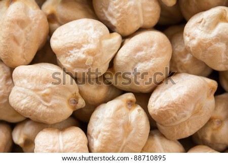 Chickpeas close up as background - stock photo