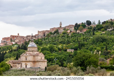 Chiesa di San Biagio church in Montepulciano , Tuscany, Italy - stock photo