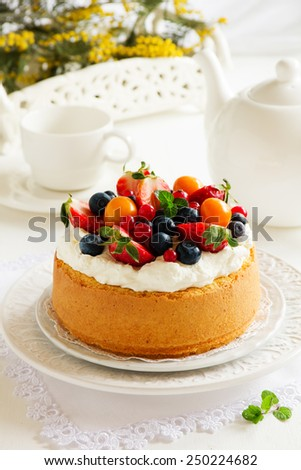 ... cream strawberries and cream strawberries cream miniature chiffon cake