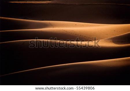 Chigaga Sand Dunes, Morocco, Western Sahara - stock photo