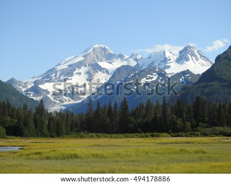 Chigmit Mountains at Lake Clark National Park in Alaska