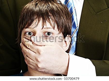child abuse, concept of violence - stock photo