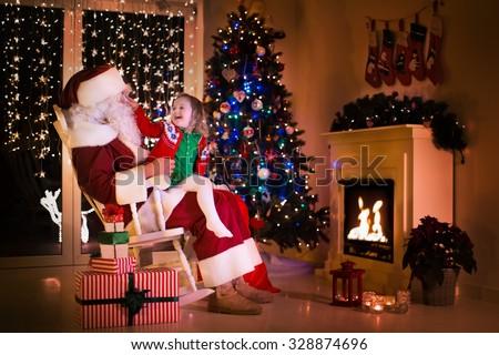Super Wide Shot Santa Claus His Stock Photo 502945534
