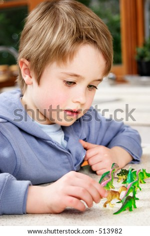 Child at play - stock photo